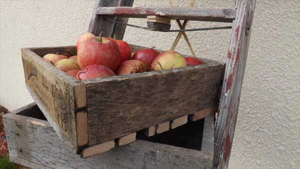 Wooden pallet apple crate pallet furniture plans for Apple crate furniture