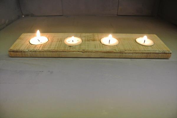 reestablished pallet candle holder