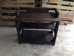 Recycled Pallet Entry Bench – Storage Rack