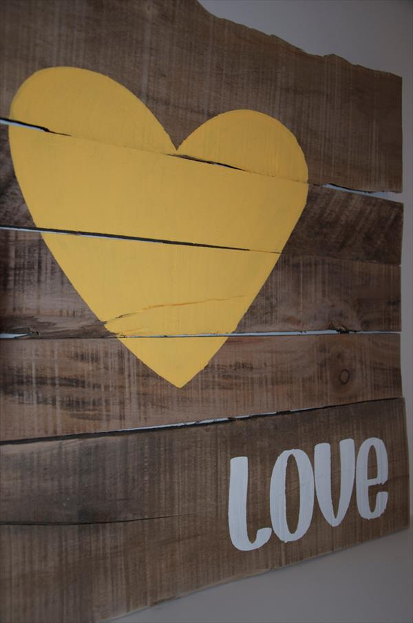 reestablished pallet love wall art