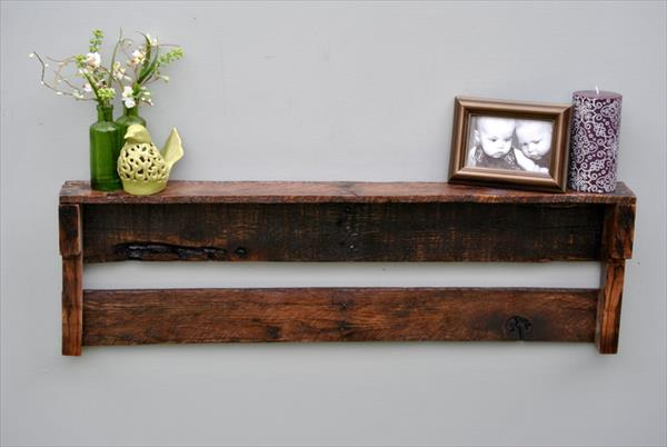 Wood Pallet Shelf Idea | Pallet Furniture Plans
