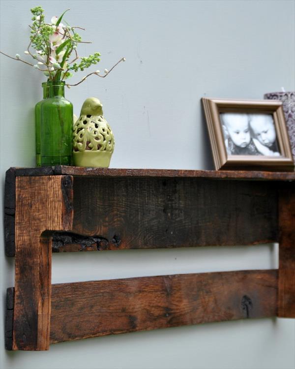 reestablished pallet shelf