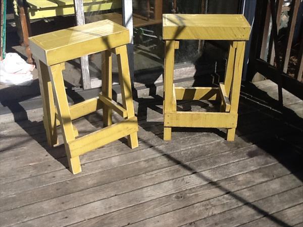 diy pallet stools