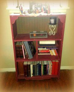 Pallet Red Bookshelf
