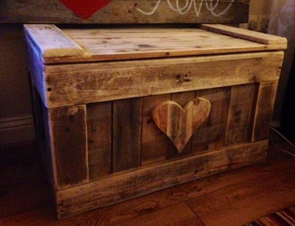 DIY Pallet Wood Chest | Pallet Furniture Plans