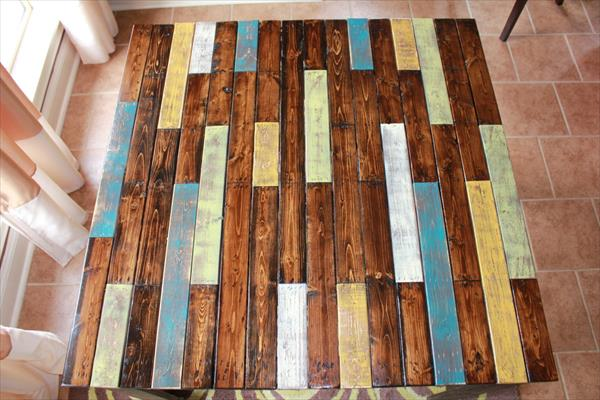 upcycled pallet  breakfast table