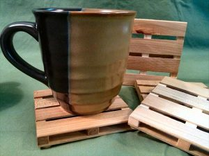 DIY Pallet Coffee Cup Coasters