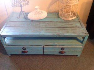 retireved pallet coffee table