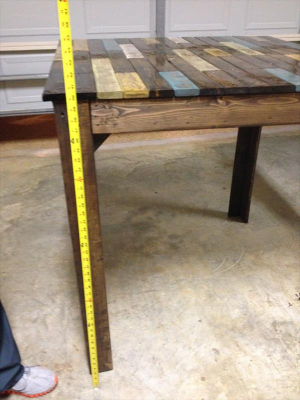 retrieved pallet table