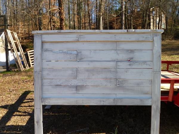 recovered pallet headboard