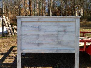 salvaged pallet headboard