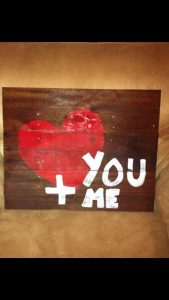 recycled pallet love sign