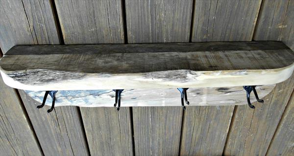 repurposed pallet shelf and rack