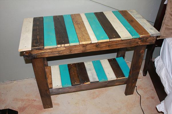 Recycled Pallet Sofa Side Table Pallet Furniture Plans