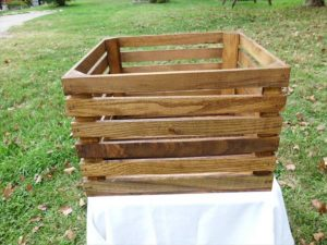 reclaimed pallet storage crate