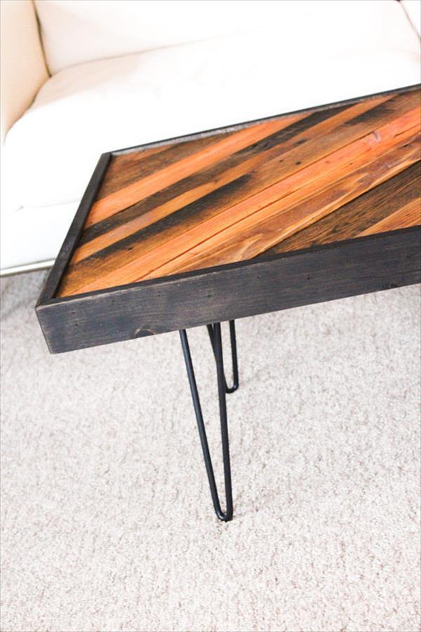 Table Recovered from Pallet Wood