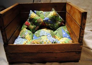 upcycled crate pet bed