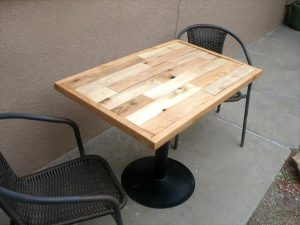 recycled pallet metal dining table