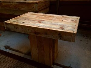 recycled pallet pedestal coffee table