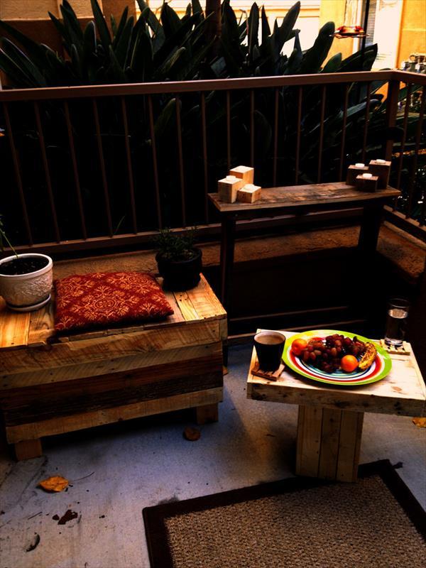 diy tiny pallet coffee table