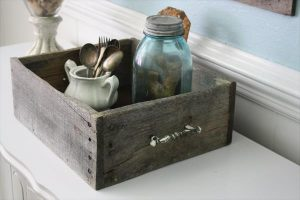 recycled pallet rustic tray