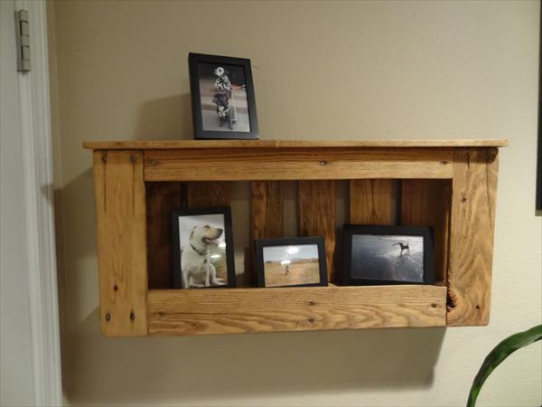 repurposed pallet shelf and rack