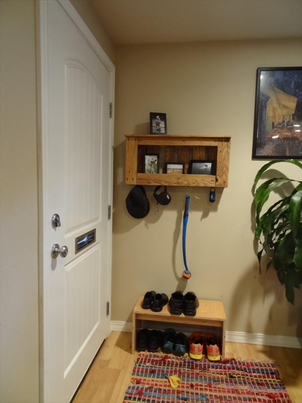 diy pallet shelf and rack