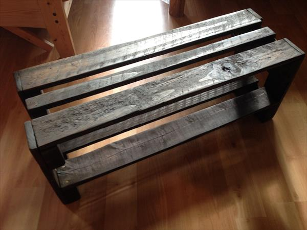 diy rustic pallet shoes rack