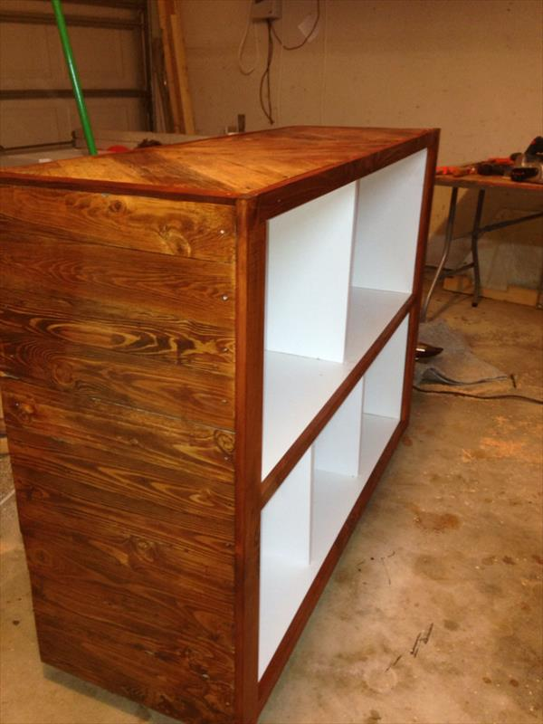 handcrafted pallet wood cabinet