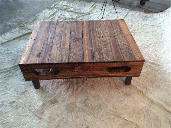 diy pallet hinged top coffee table