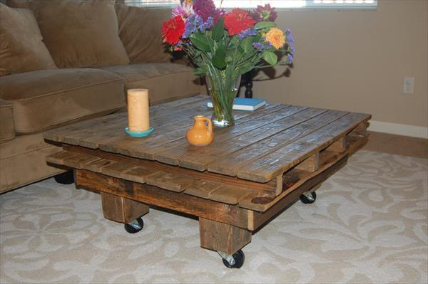 Vintage pallet coffee table craft for Furniture 63366