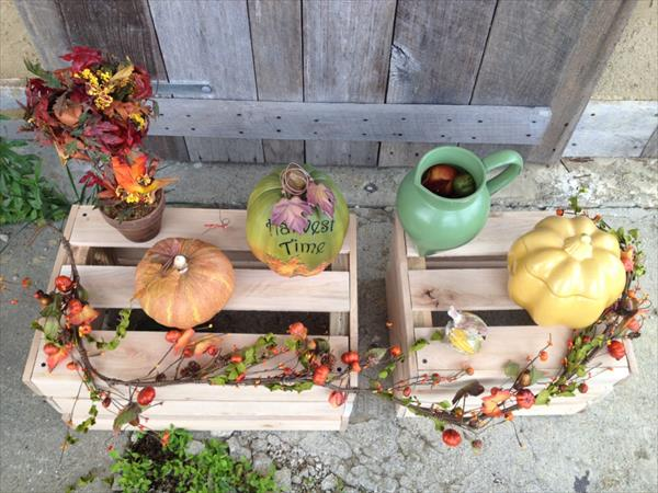 diy pallet decorative crates