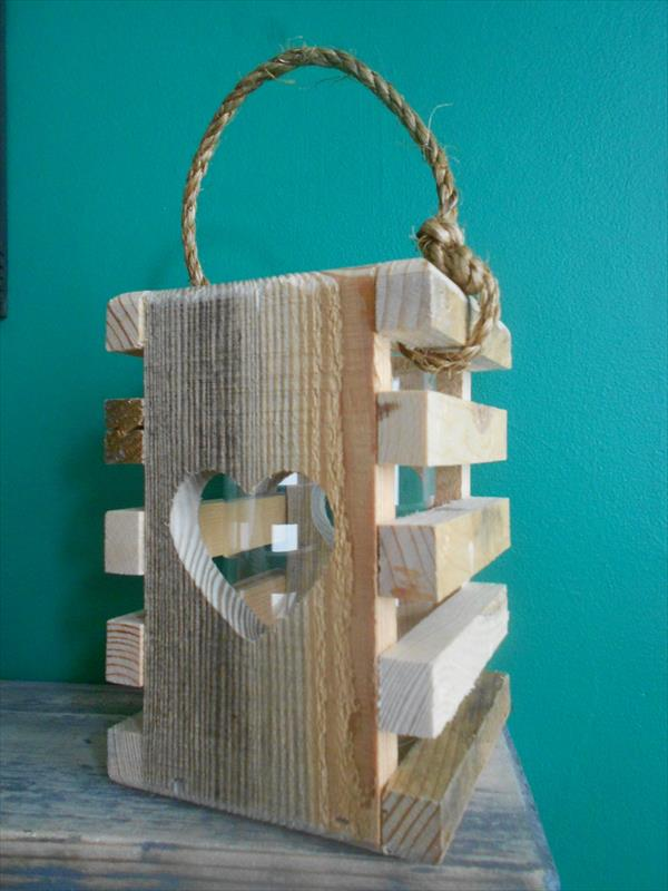 Diy Pallet Heart Lantern Tea Light Pallet Furniture Plans