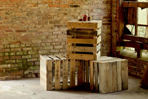 repurposed pallet side table