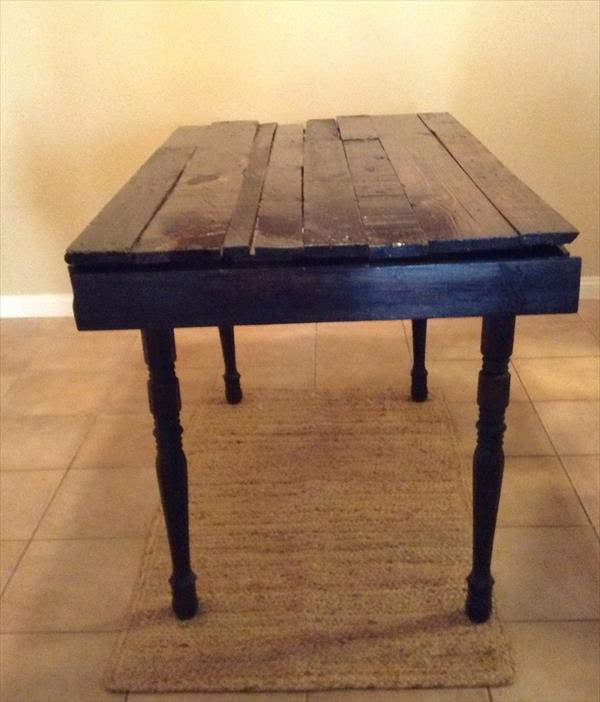upcycled rustic pallet table