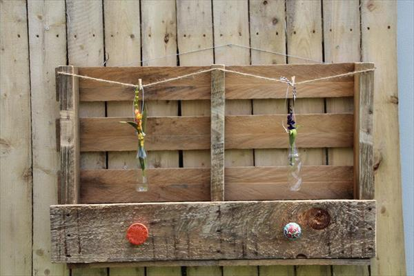 recycled pallet wall art and rack