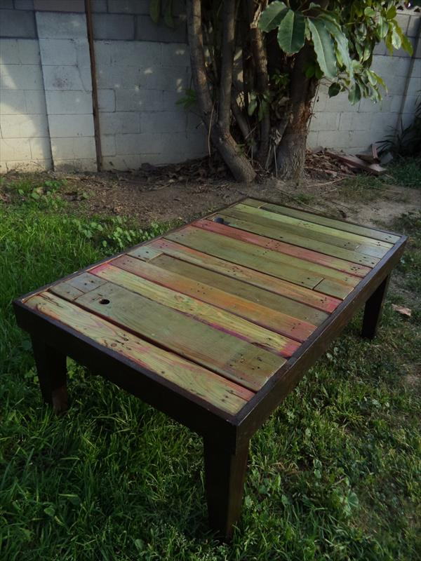 upcycled pallet outdoor table