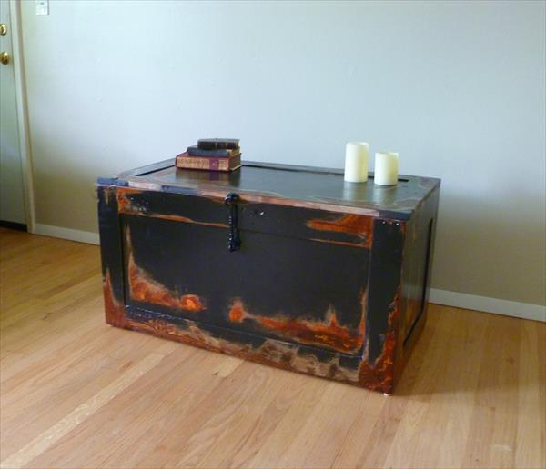 recycled pallet trunk