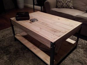DIY Pallet Industrial Coffee Table