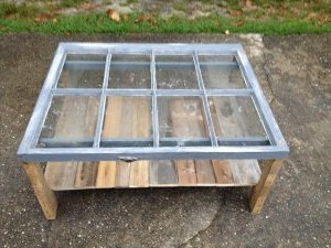 Reclaimed Window Pallet Coffee Table