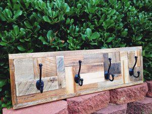 recycled pallet coat rack