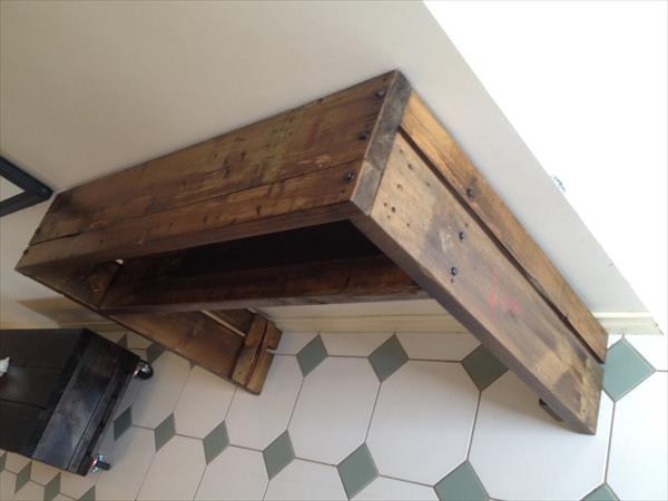 Rustic Pallet Hallway Table/Side Table | Pallet Furniture ...