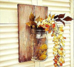DIY Pallet Mason jar Wall Decor