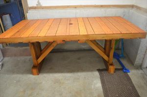 Outdoor Accent Table Made of Pallets