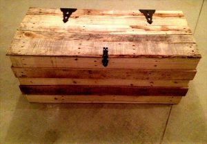 DIY Hinged Pallet Trunk