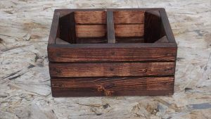 recycled pallet wood caddy
