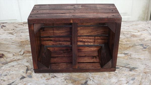 upcycled pallet wood caddy