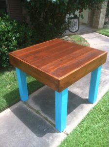 Pallet Repurposed Dining Table