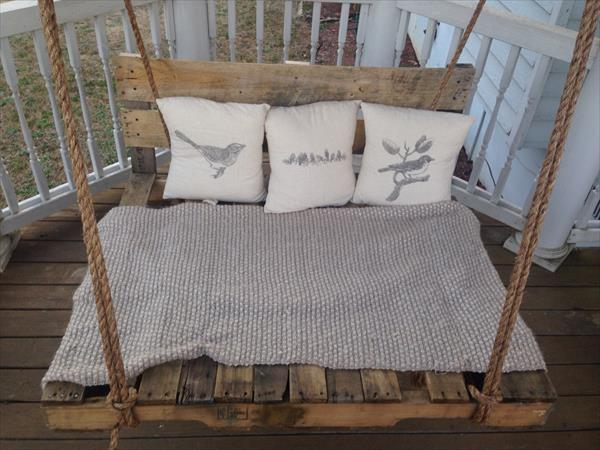upcycled pallet bed swing