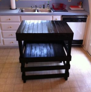 DIY Pallet Kitchen Island